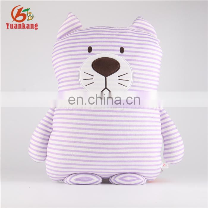 High Quality Wholesale Custom Cute Plush Stuffed Animal Cat Stripe Cat Toys For Sale