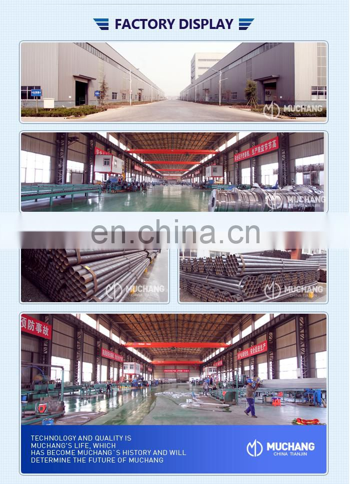 Tianjin Gi Pipe 6m Length Sch 40 Galvanized ERW steel pipe