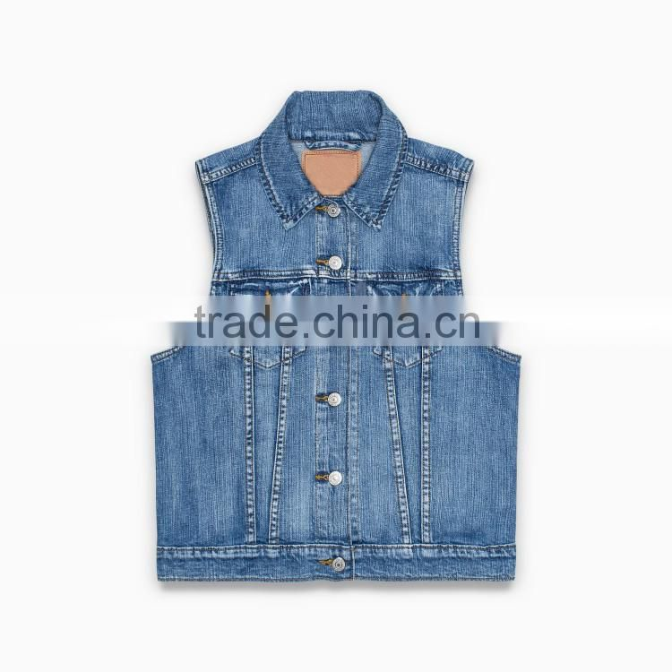 fancy girl jeans women blue wash high quality pure cotton denim skinny jeans wear apparel blouse shirts waistcoat vest
