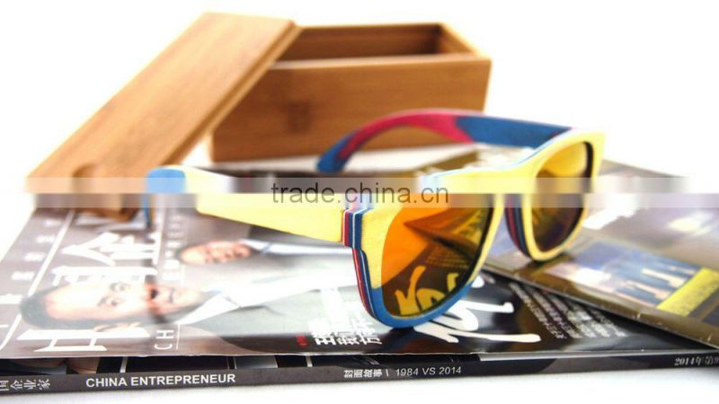 Fashion Wooden Polarized Lens Sunglasses/Homex_FSC/BSCI Factory