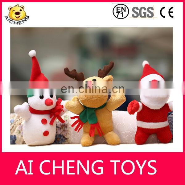 Lovely 10-15cm small plush reindeer toys with christmas scarf