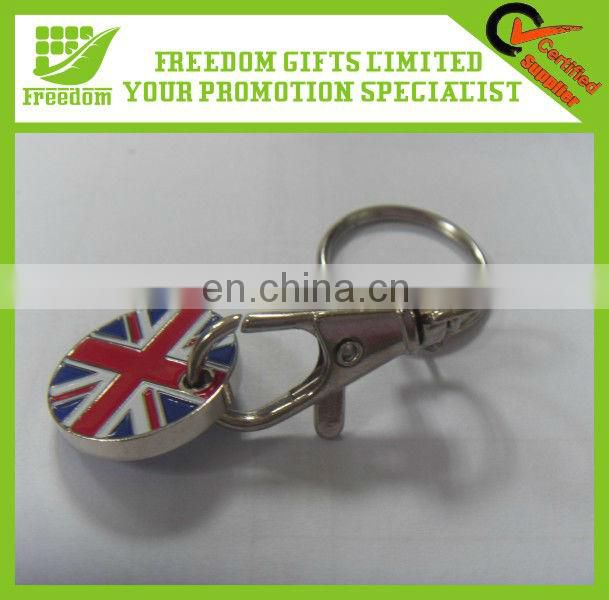 Popular Metal Trolley Coin Keyring