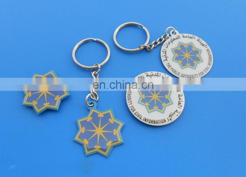 colorful soft enamel hollow out design triangle shaped customized promotional gift metal keychain