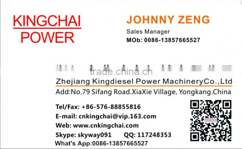 KINGCHAI Power Machinery 2Inch Diesel Water Pump with 170F Diesel Engine for Agricultural Irrigation