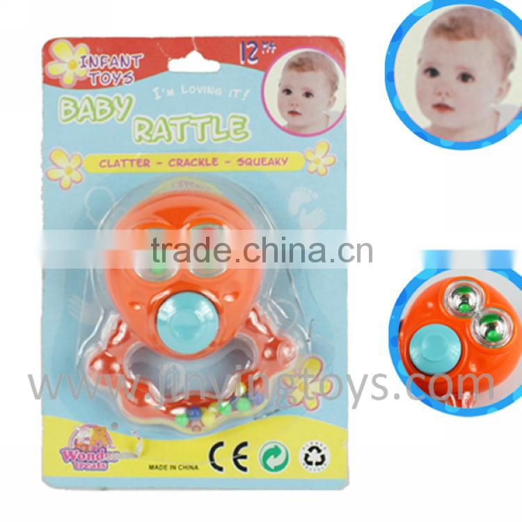 Funny design baby wrist rattle with high quality