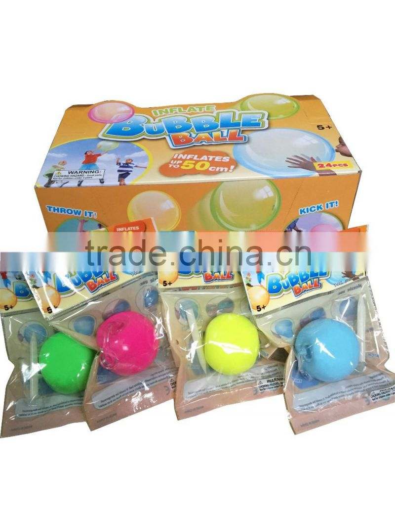 2016 Newest inflate bubble toy ball for kids mgaic ball toy crazy ball toy inflates up to 50cm