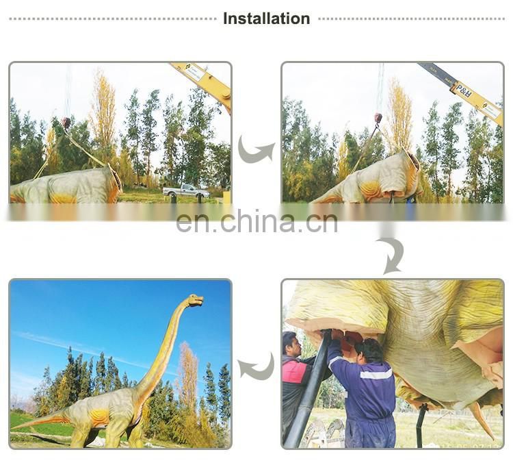Amusement Park Robotic Playground dinosaur at the Zoo of Pterosaur
