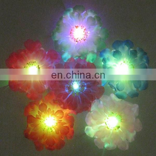 Hot sale glowing flower brooch for party led flashing brooch handmade flower brooches