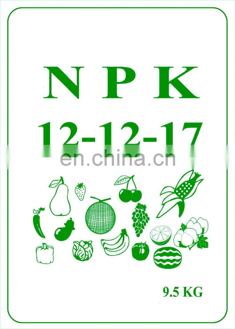 China manufacturer Granular compound fertilizante npk 18 18 18