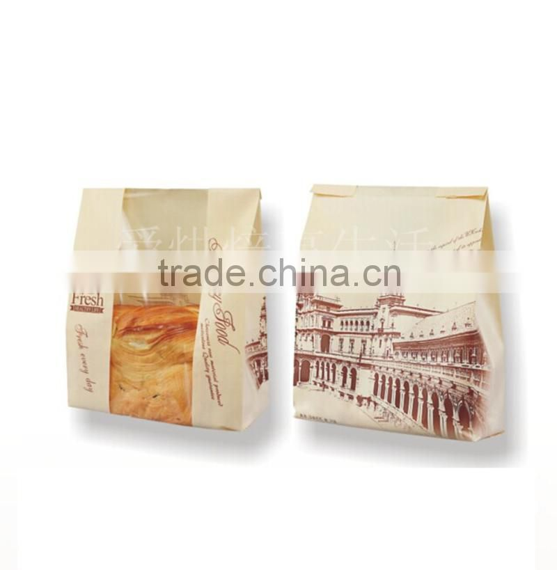 poly bag suppliers logo decoration foodteabread packaging materials craft paper bag with window