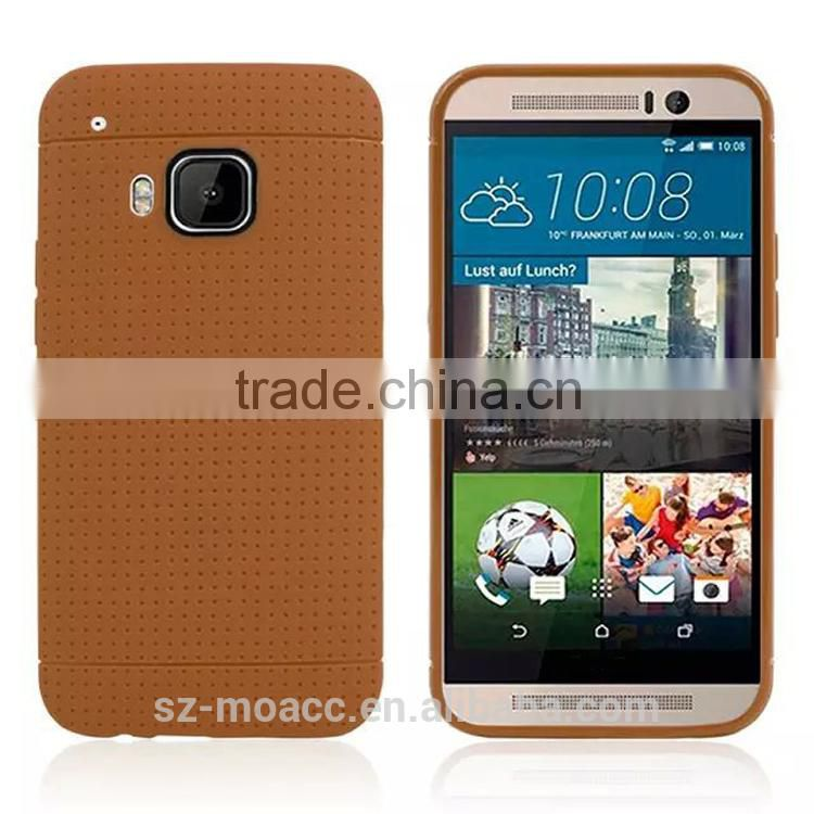 Factory price Wave point soft tpu case for htc one m9