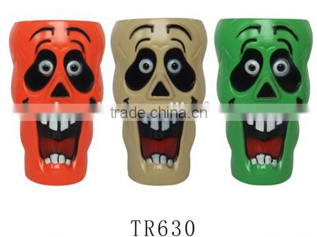 Halloween party plastic ghost face food grade drinking cup