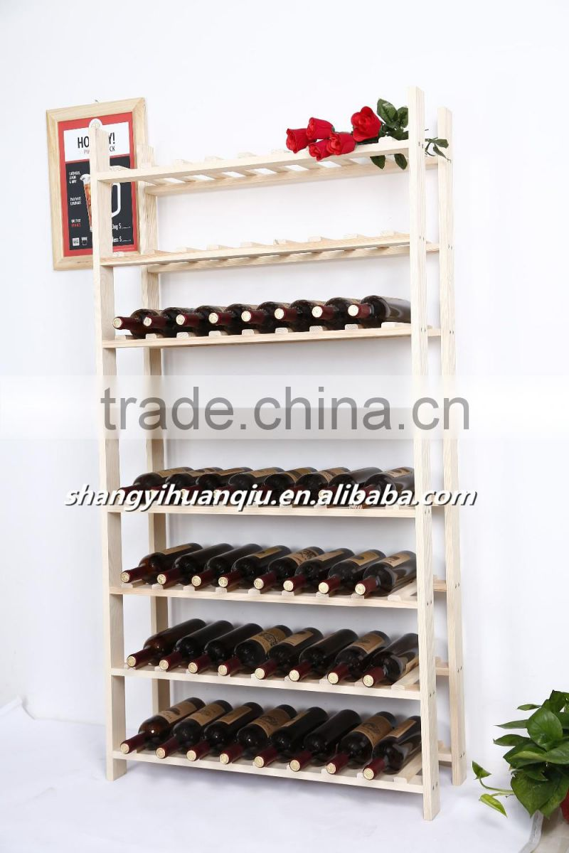 Hot Wall Mounted Wine Rack Wood Display Stand And Liquor