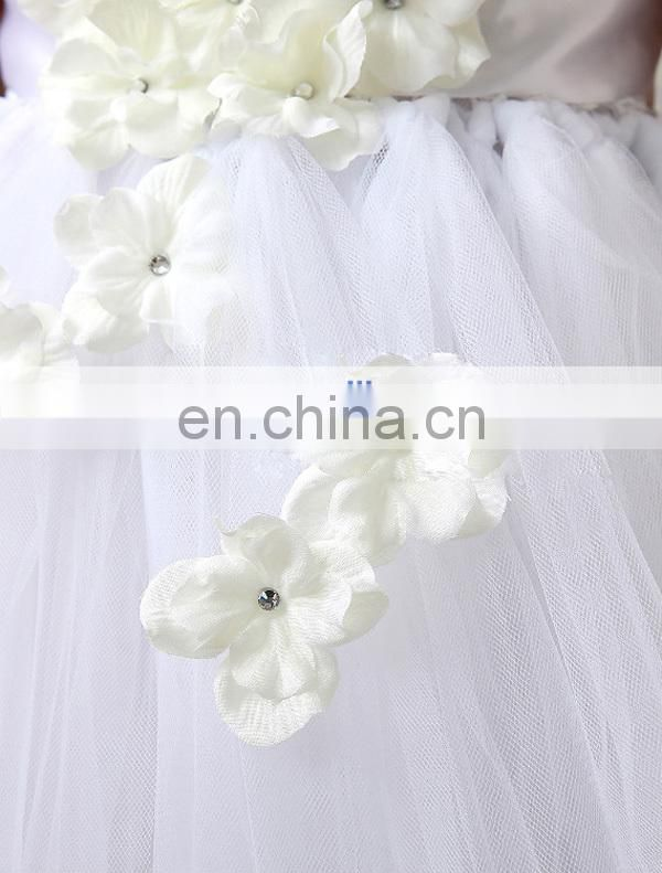 White Flower Girl Tutu Dress For Birthday Photo Wedding Party Baby Kids Dresse 9 years old