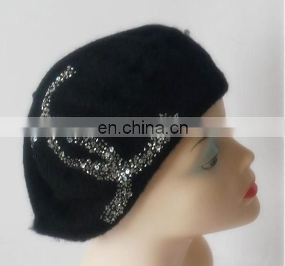 100% Wool Beret Hot Transfer Drill Lady hat