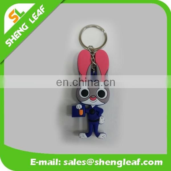 custom logo soft pvc rubber keychain with eco friendly material