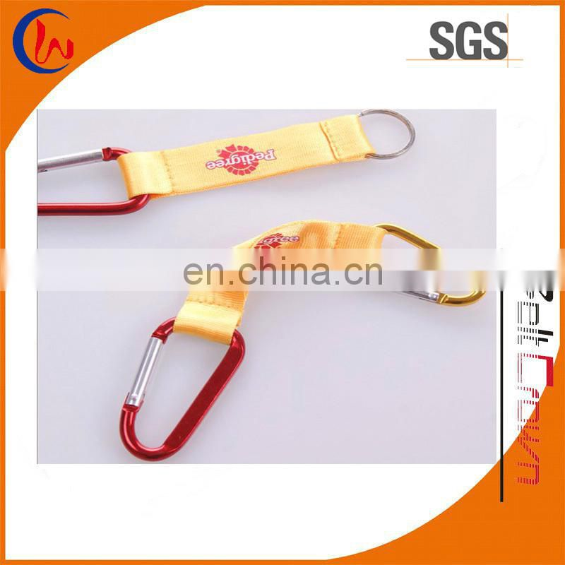 2016 Fashion pretty karabiner keychain with sliver keyring