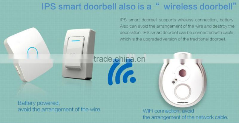 waterproof WIFI phone control IP doorbell camera support Micro-SD card  storage visitor video