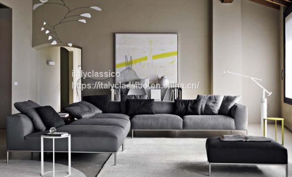 B&B ITALIA simple modern style living room cloth art leather sofa of ...