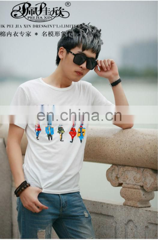 Peijiaxin Fashion Casual Design Print Five Kings Printing T shirt Men