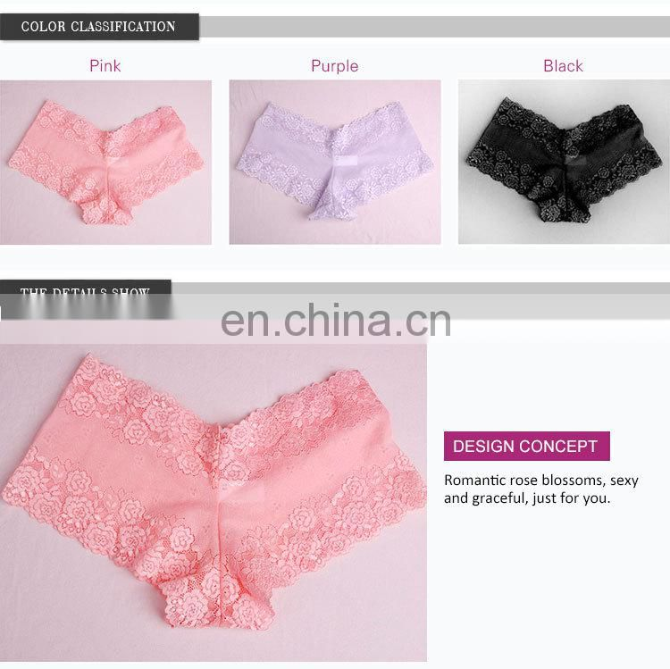 China Supplier Pretty Pattern Young Lady Polyester Women Panties