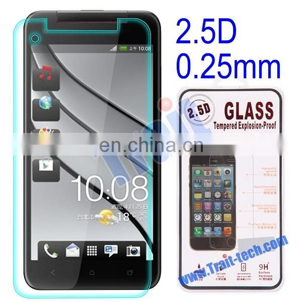 Cheap Price 0.25mm 2.5D Tempered Glass Screen Protector for HTC Butterfly3