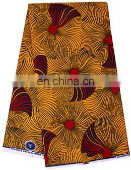hot selling Hollandais Wax african real wax in woven fabric