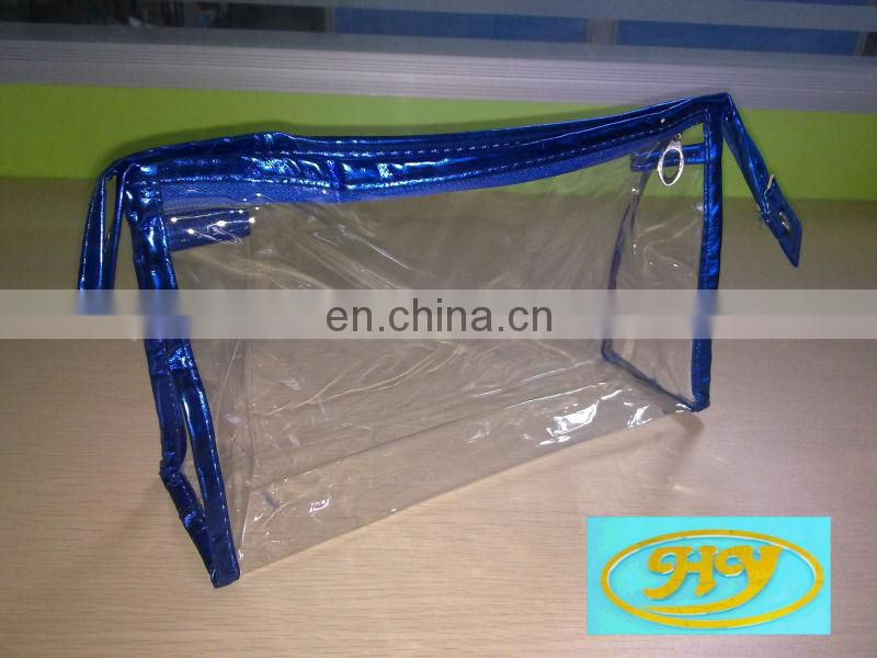 China Wholesale waterproof transparent custom size makeup EVA cosmetic zipper bag