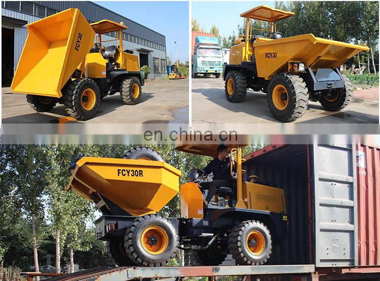 New condition mini FCY30 Loading capacity 3 tons steering dumper looking for agent representative