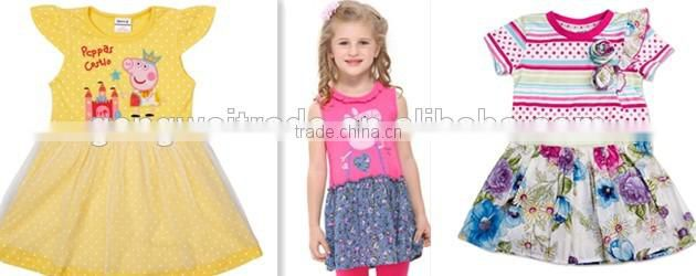 2014 Latest Summer Kids Clothes Exquisite Girl Embroidered Dress
