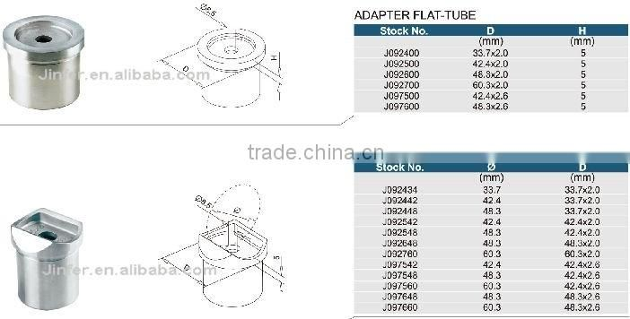 SS/Stainless steel Adapter Flat-tube