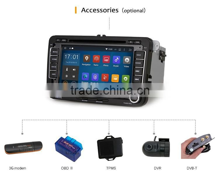 Cheap 7 Inch High quality Support all Android videos car gps dvd player for VW POLO MK5