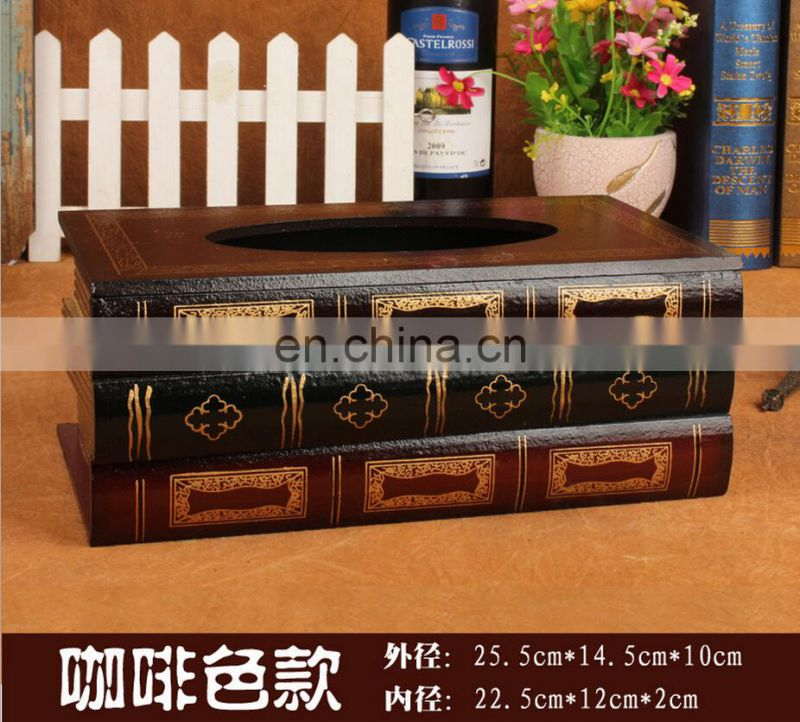 Europe design Book Tissue Box factory direct