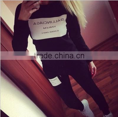 Wholesale Woman Clothes sets 2016 Ballinciaga Tracksuits 2 Piece Set Women Sport Suit Hoodies Jogging