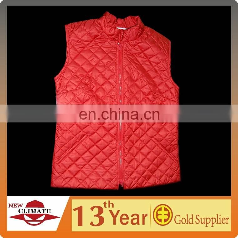 100% polyester quilted vest for women, quilted waistcoat for women