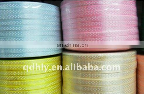 Hot selling satin ribbons with spots