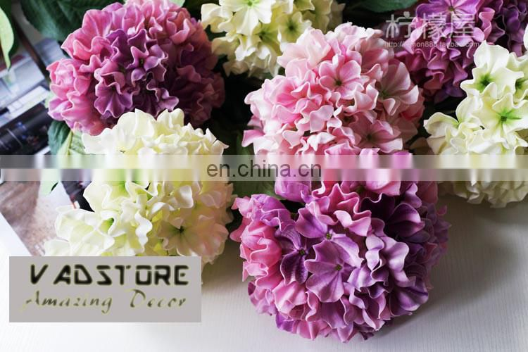 Real touch artificial hydrangea wedding table centerpiece PU real touch artificial hydrangea