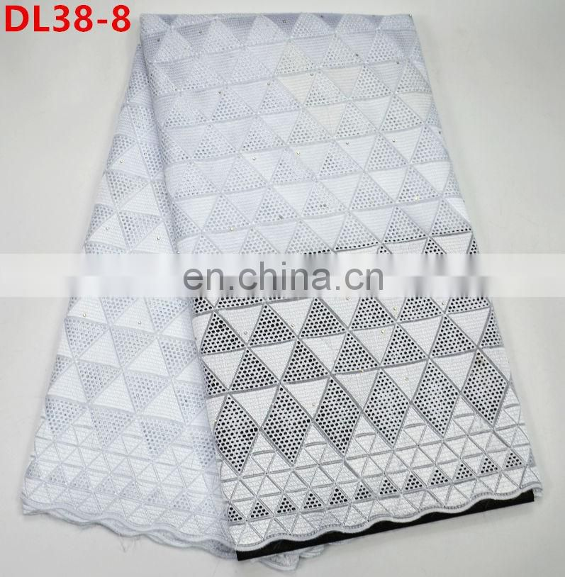 Higg Quality African Swiss voile lace dry lace fabric for clothes