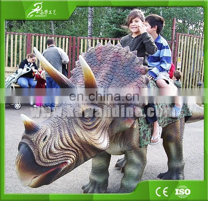 KAWAH Hot-Sale Amusement Park Outdoor Life Size Mechanical Dinosaur Ride