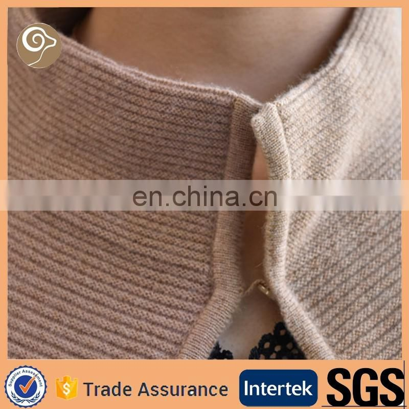 Women stand collar cashmere sweater sale