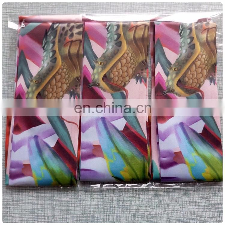 Polyester satin ribbon tie digital printing for girls cheap scarf