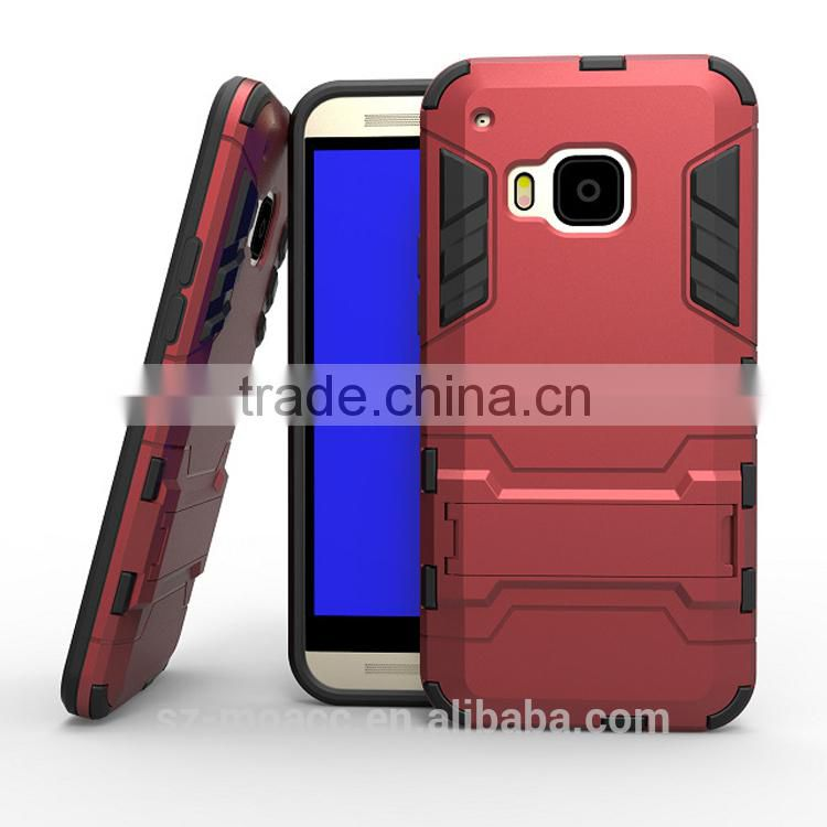 2 in 1 pc+tpu anti-drop shockproof Case For HTC one M9 with kickstand