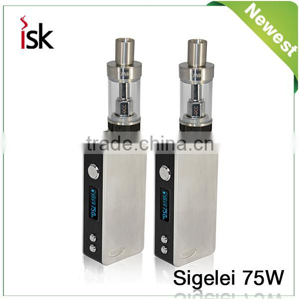 Alibaba Express Electronic Cigarette Sexy Sigelei 75w Temperature Control Mod single 18650 high-drain battery Sigelei 75w Mod