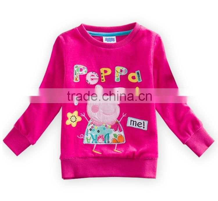 New 2016 fashion girl dress Kids spring long Sleeve T-shirt Children Girl's minnieT- Shirt
