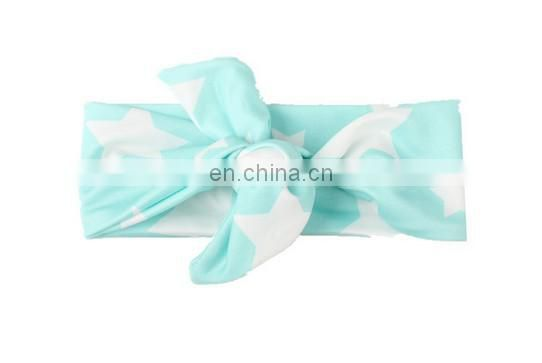 Baby Topknot Headbands With Stars Newborn Hairwrap For Baby Topknot Photo Prop