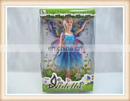 plastic bearty girl doll toy, garden fairy doll toy