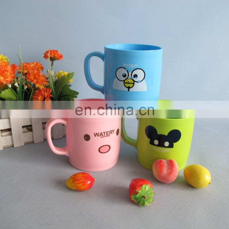 2014 cartoon desigh plastic water cup 400ml