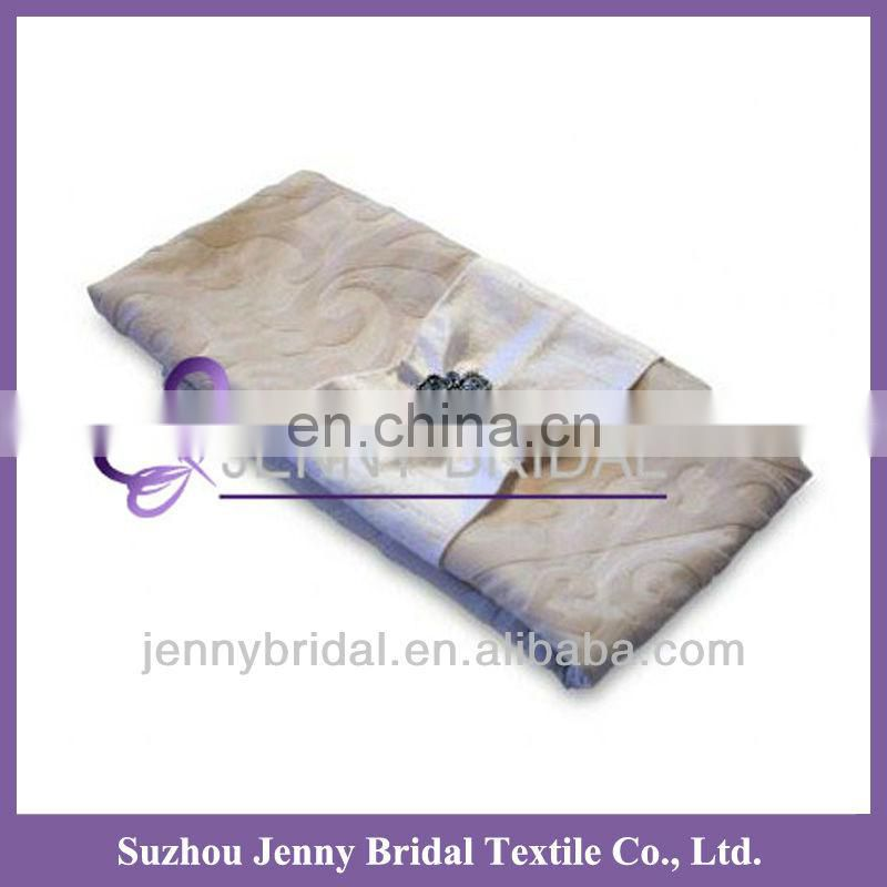 NP004A silver Imitation silk table napkin folding design