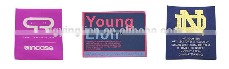 high quality garment neck woven label