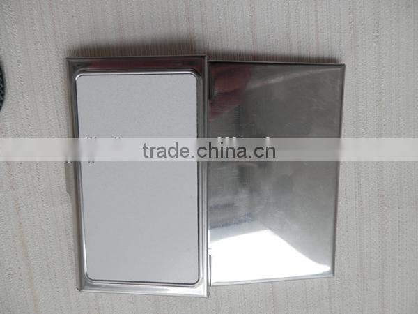 Custom Sublimation metal Name Card Case with blank printing area, business card case